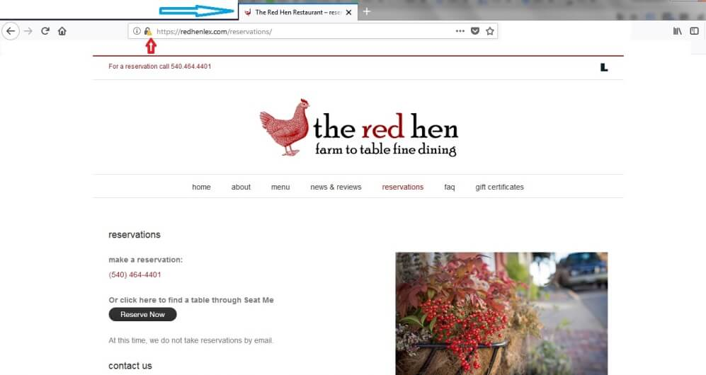 red hen reservations